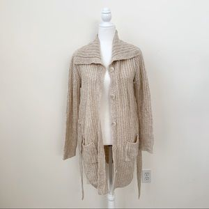 Faded Glory Oversized Knit Button Down Cardigan